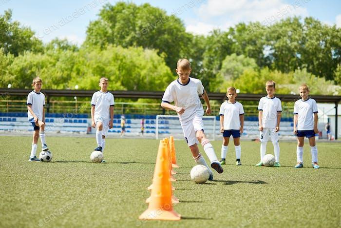 Junior Football Team at Practice