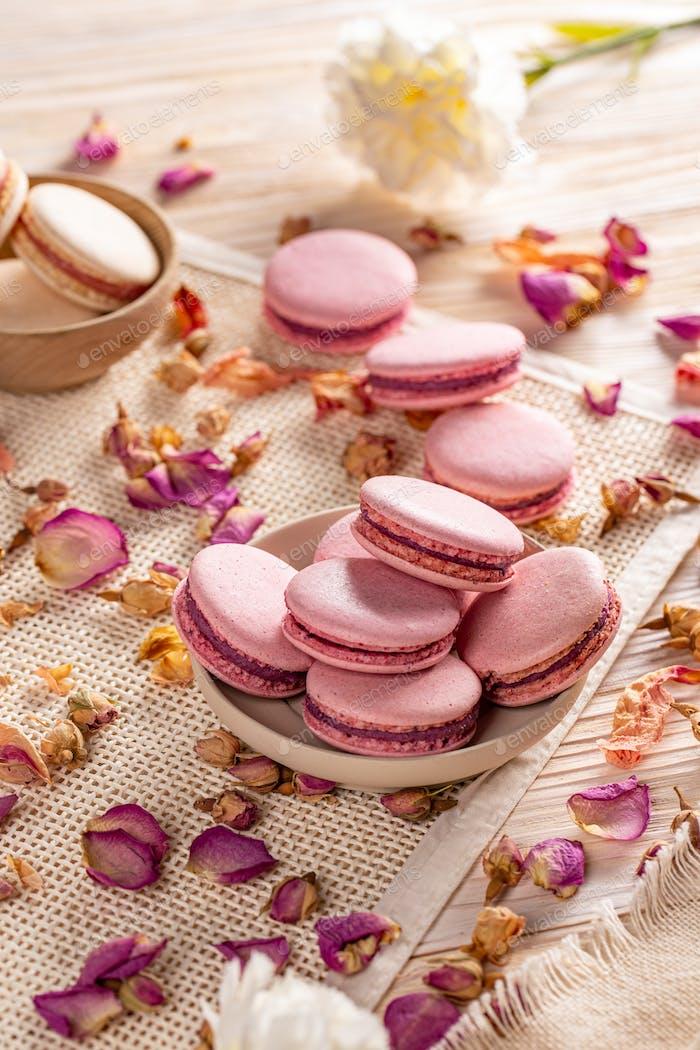 French macarons dessert