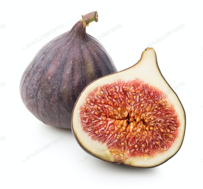 Juicy figs with leaf