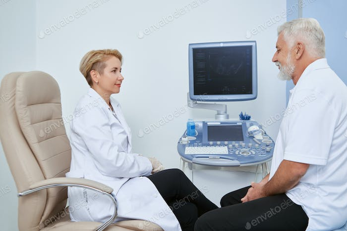 Two people on medical observation in hospital