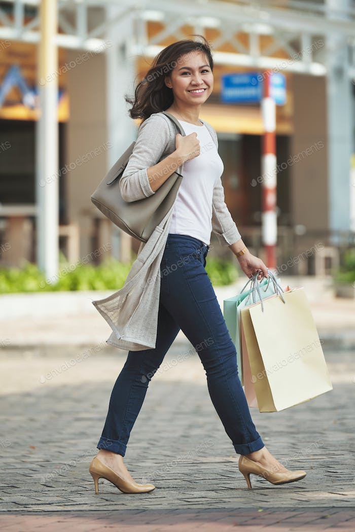 Joyful shopper
