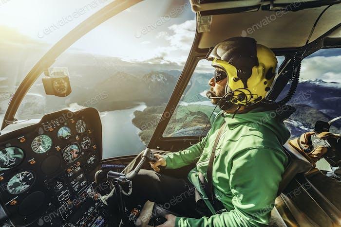 Hubschrauberpilot.