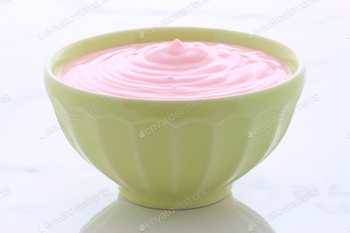 vintage strawberry yogurt