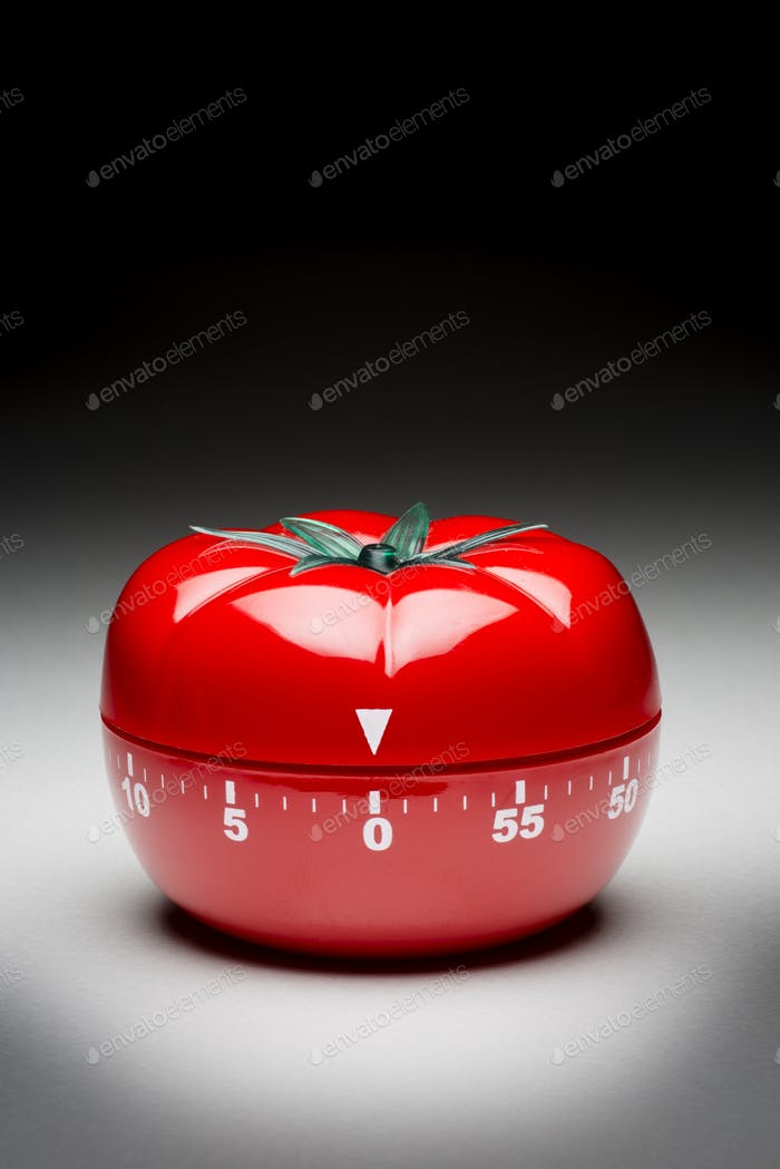 Tomato timer to fight procrastination.