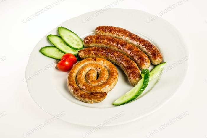 grilled meat sausages