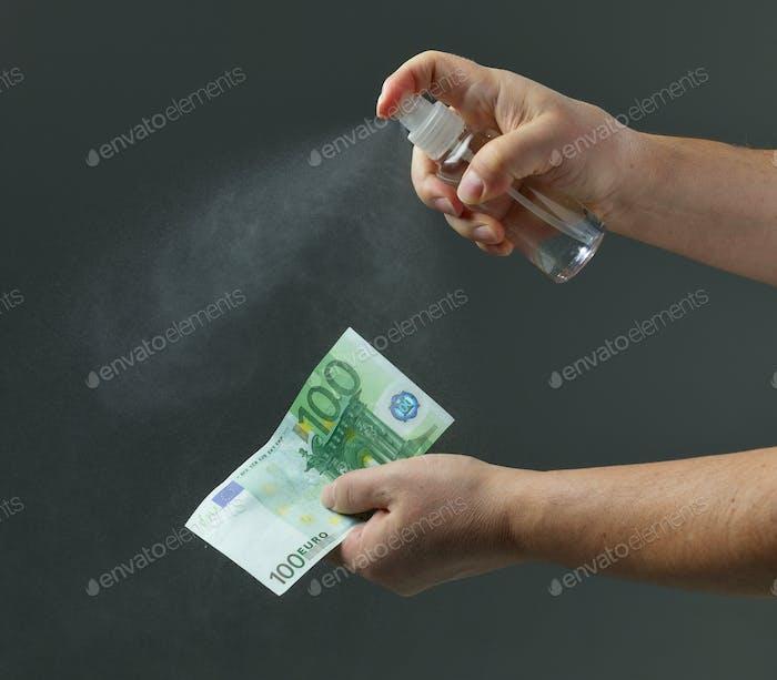 money disinfection