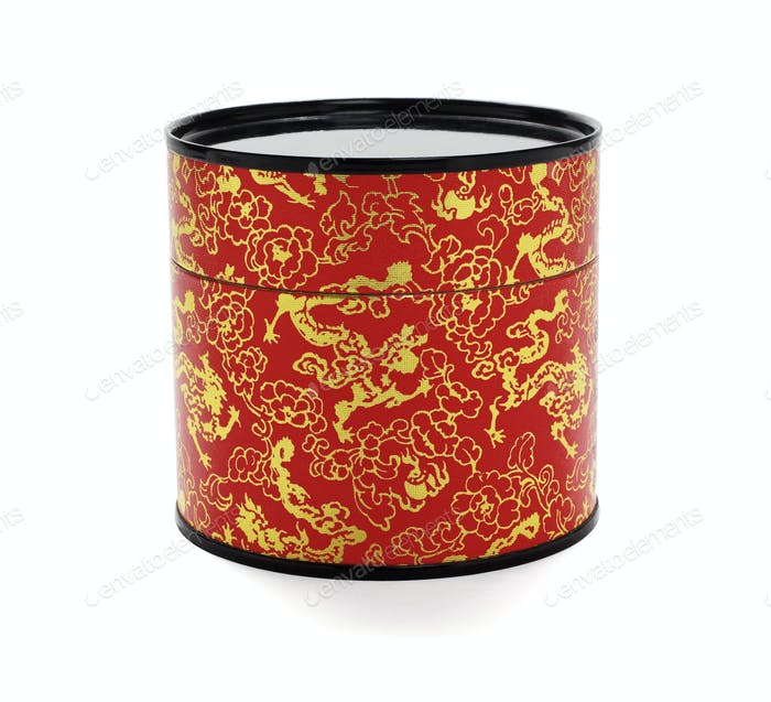 Oriental Floral Paper Container