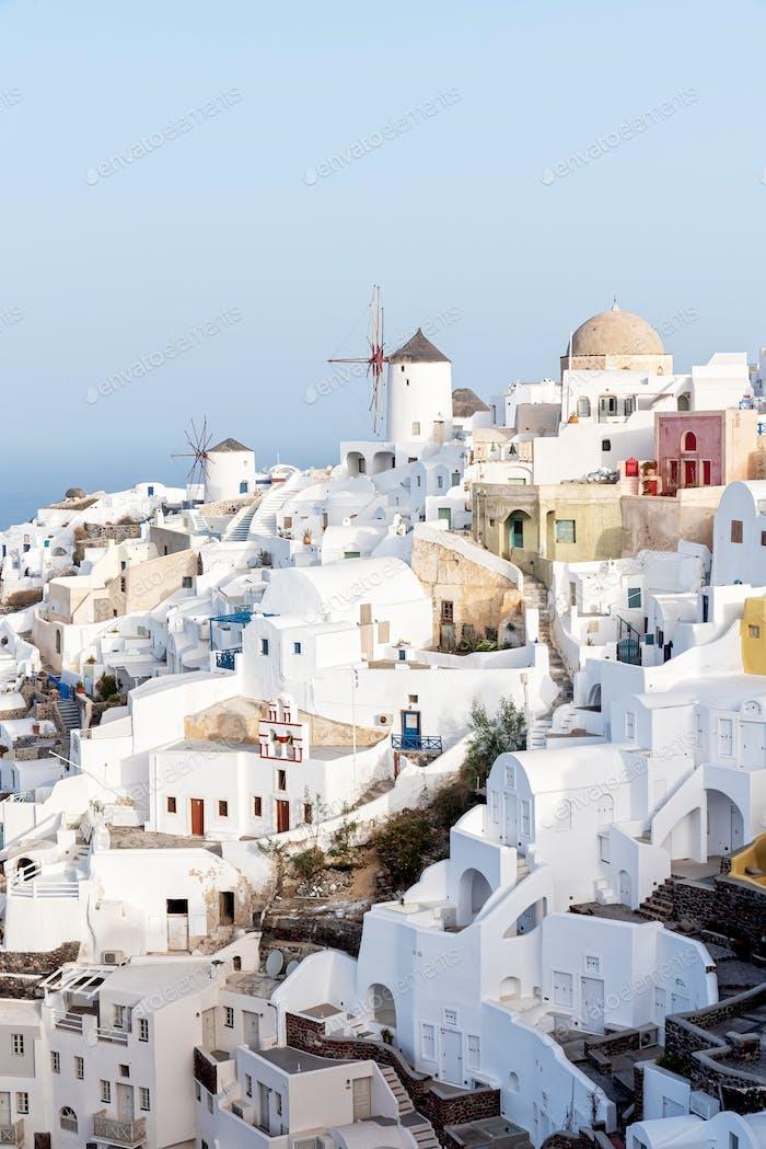 Oia Village Auf der Insel Santorin, Griechenland