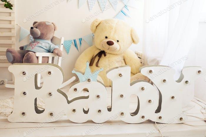 palabra Bebé en el dormitorio