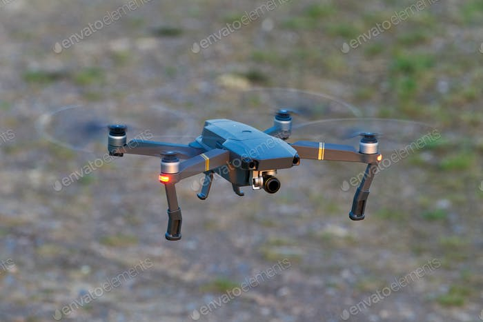 Drone quad copters with high resolution digital camera flying