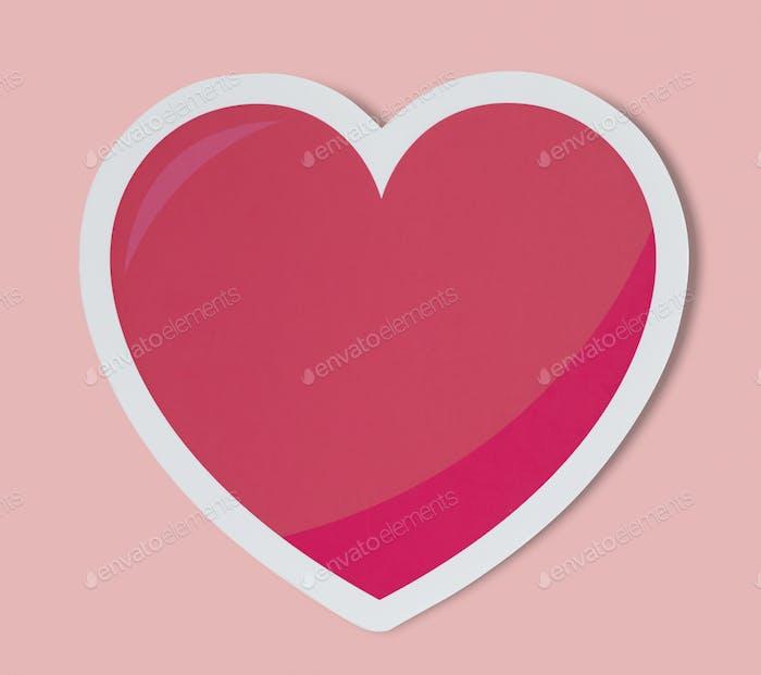 Heart like love romance icon