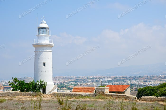 Lighthouse near city of Paphos, Cyprus