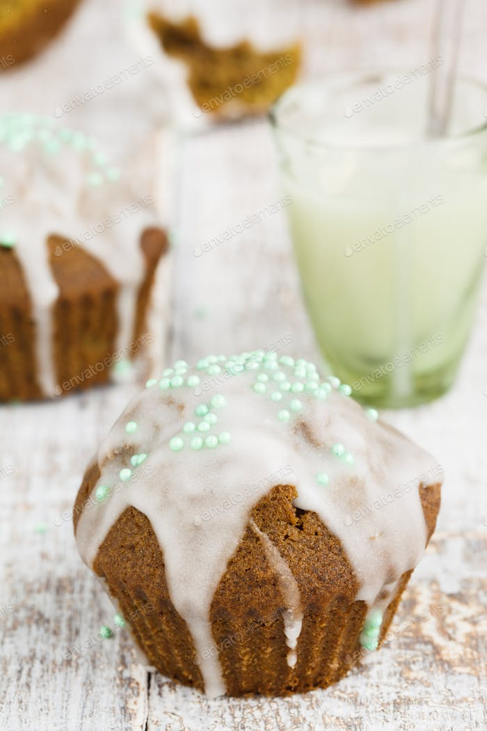 Muffins with tea match