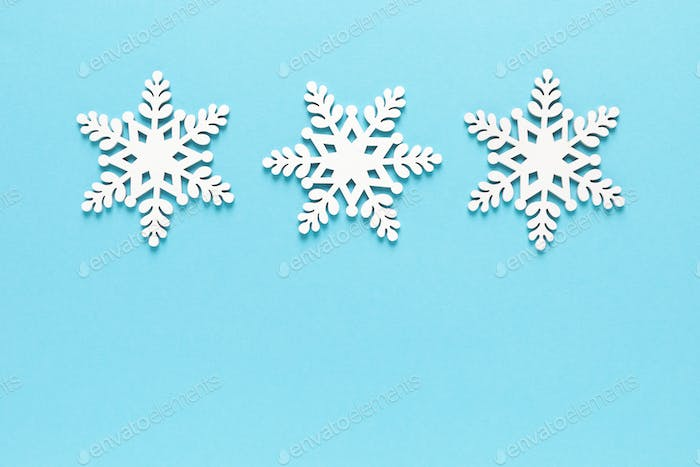 Christmas, New Year or Noel holiday decorations, snowflake on white background