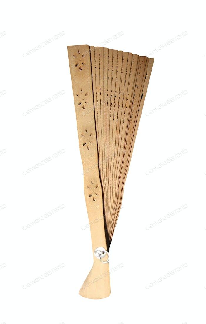 Japanese folding fan isolated