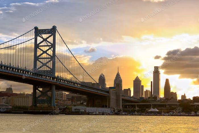 Sonnenuntergang über Philadelphia