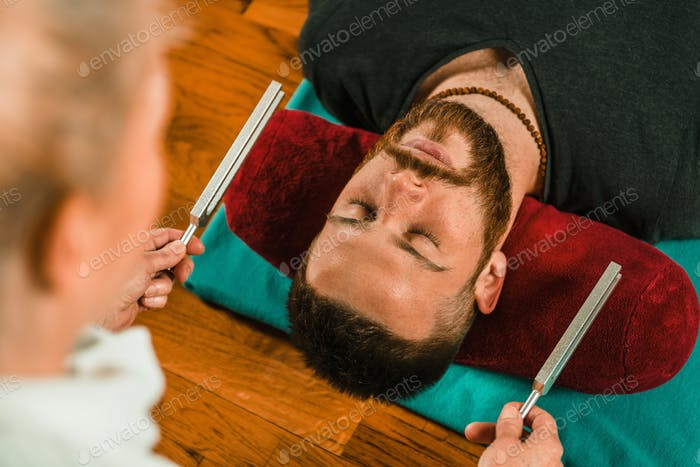 Tuning fork in sound therapy