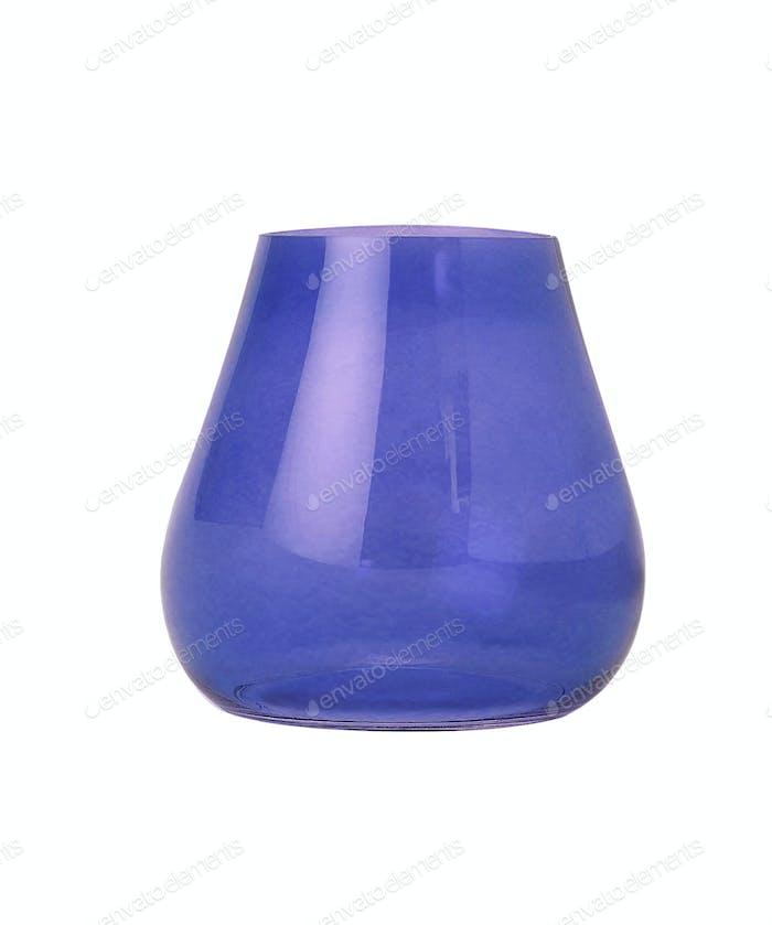 Blaue Vase isoliert auf weißem Hintergrund