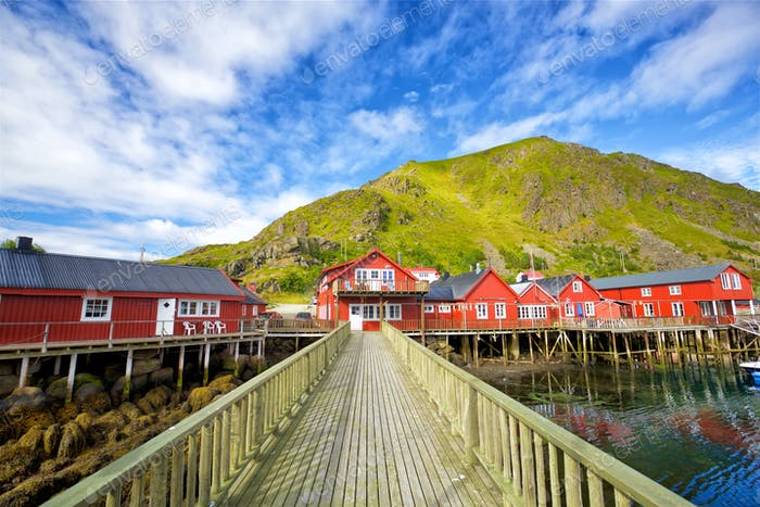 Traditional Lofoten houses