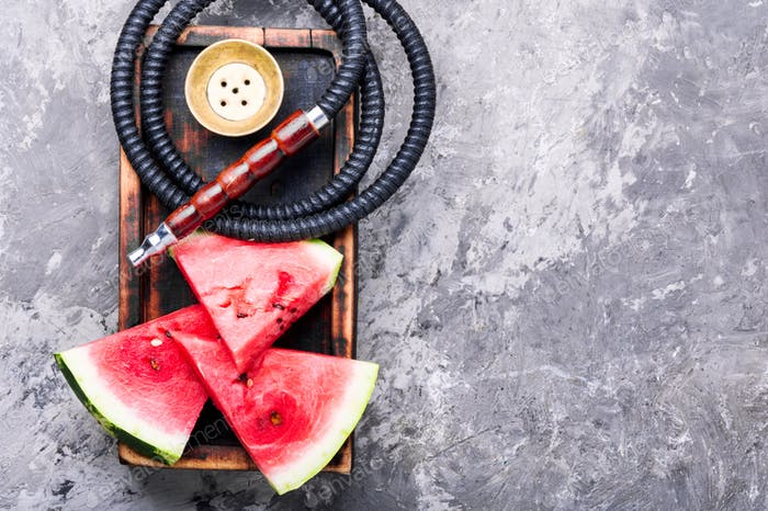 Oriental shisha with watermelon