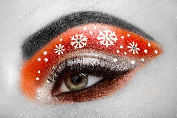 Eye girl makeover snowflakes