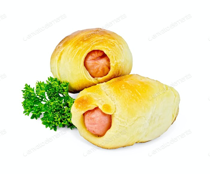 Sausage rolls with parsley