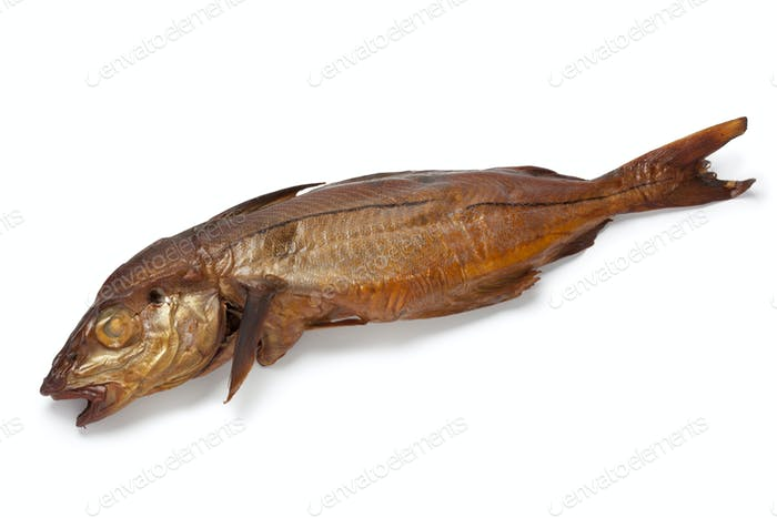 Smoked haddock fish