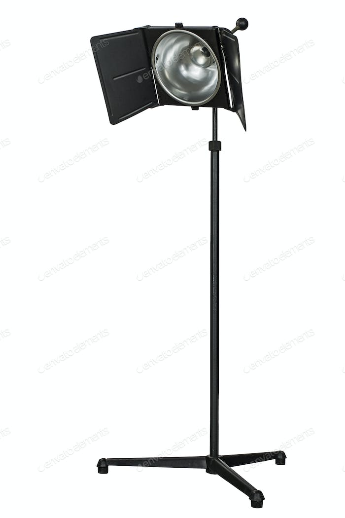 Photo studio lighting equipment, isolated on white background
