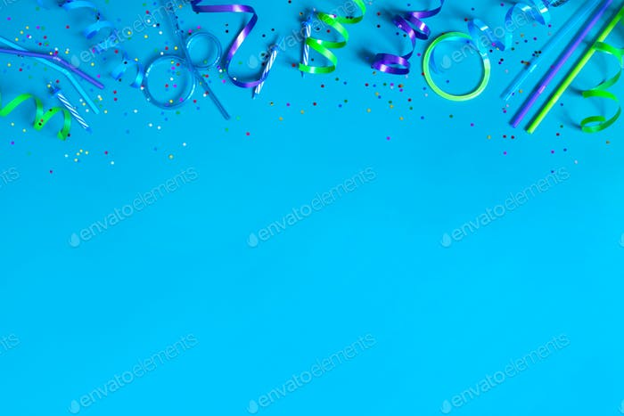 Blue Birthday Background