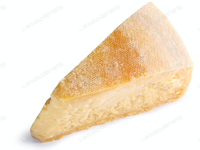 Parmesan cheese segment slice, paths, top