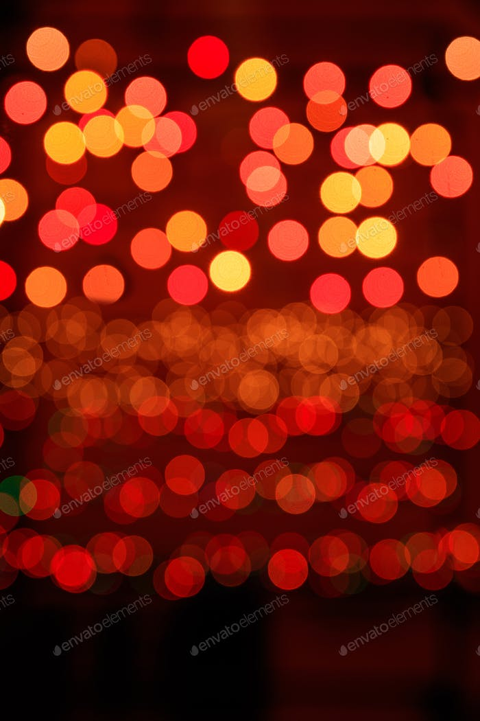 Christmas lights bokeh colorful background, abstract pattern
