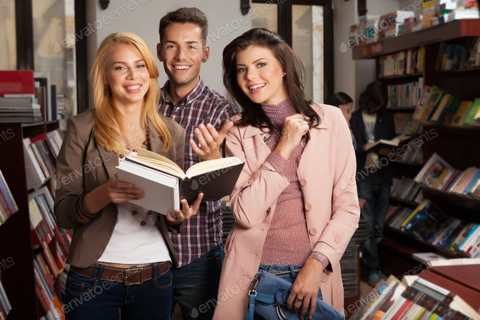 young people in bookshop
