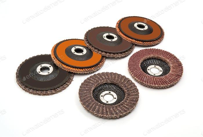 Industrial grinding and polishing wheels set