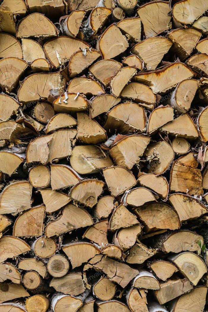 Trockengemischte Brennholz-Textur Hintergrund