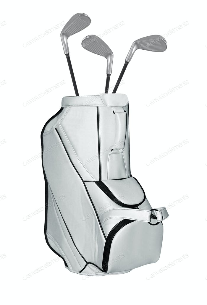 Golf Clubs bag isolated