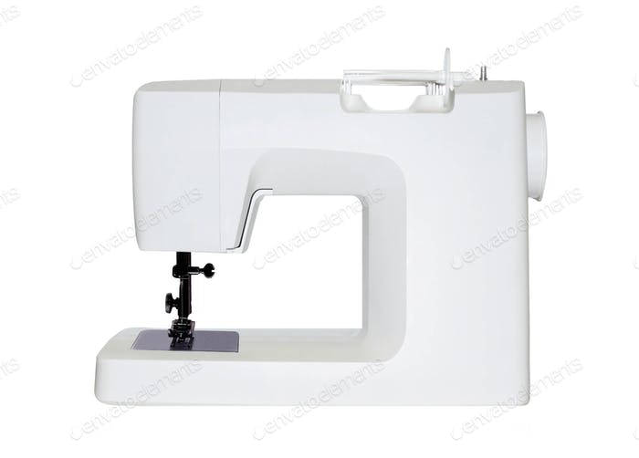 sewing machine isolated on white
