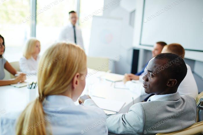 Attending seminar