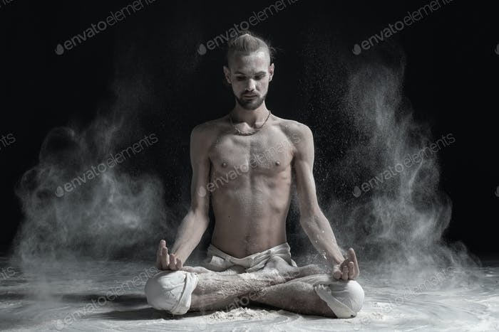 Thumbnail for Padmasana with palms in mudra