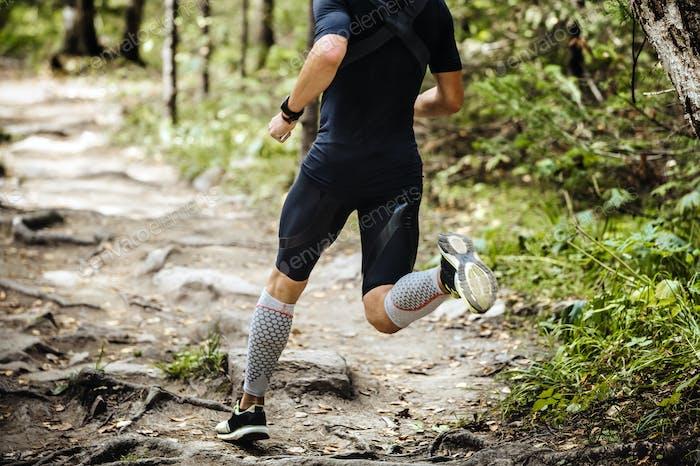 Dynamischer Athlet Laufmarathon