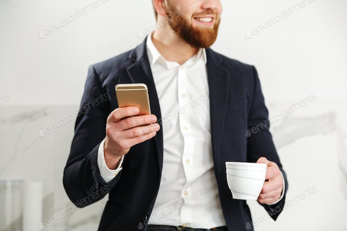 Cropped image of a handsome young businessman
