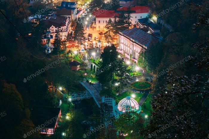 Thumbnail for Borjomi, Samtskhe-Javakheti, Georgia. Aerial View Borjomi Citysc