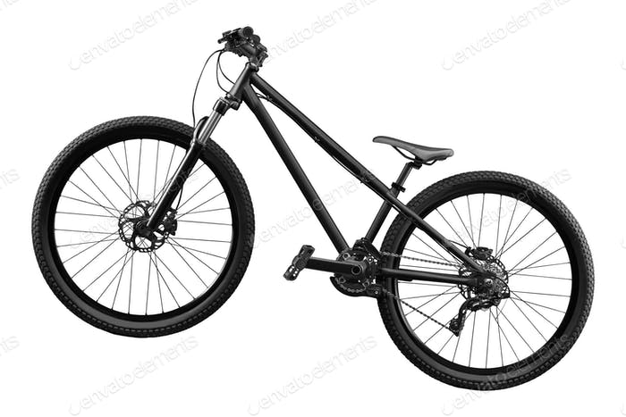 bike isolated on white background