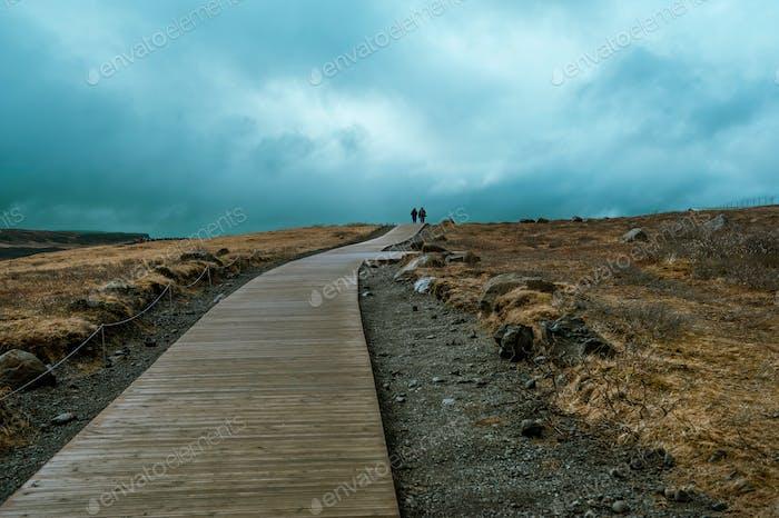 Island Hintergrundestraße