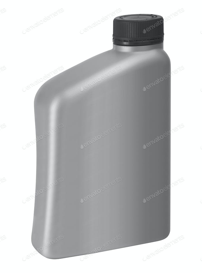 Gray canister with engine oil