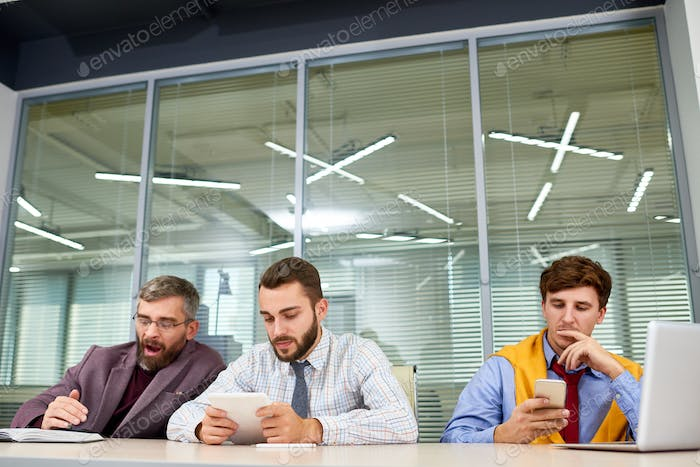 Business People Waiting for Meeting