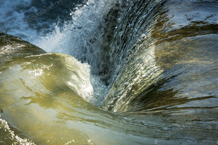 Waterfall Whirlpool As Tranquil Background