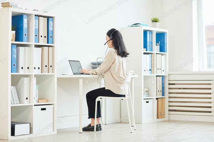 Woman Working from Home in Isoltion