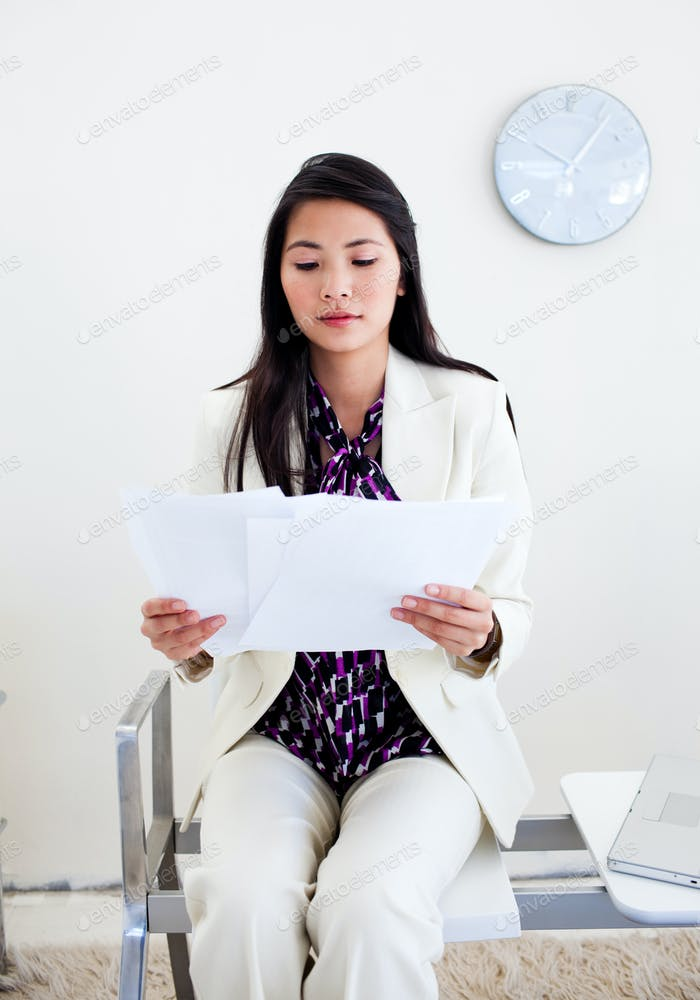 woman waiting ofr an interview