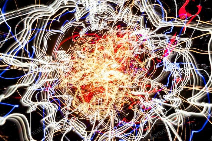 light-trail fireball