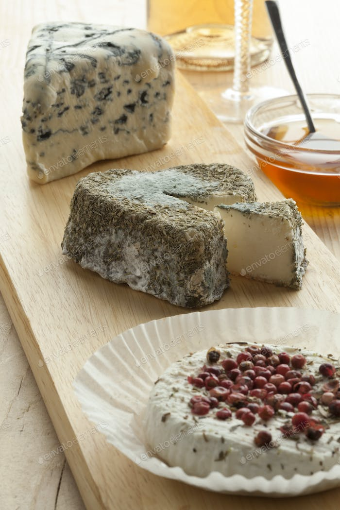 Traditional French cheeseboard